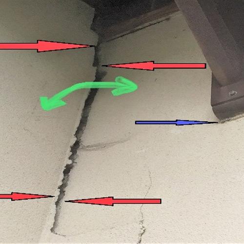 Fissure : Absence de ferraillage